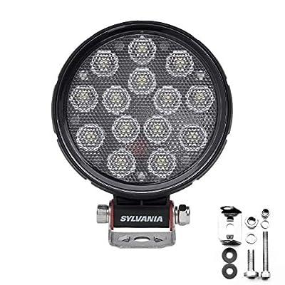 SYLVANIA - Rugged 4 Inch Round LED Light Pod - Lifetime Limited Warranty - Flood Light 2100 Raw Lumens, Best Quality Off Road Driving Work Light, Truck, Jeep, Boat, ATV, UTV, SUV, 4x4 (1 PC)