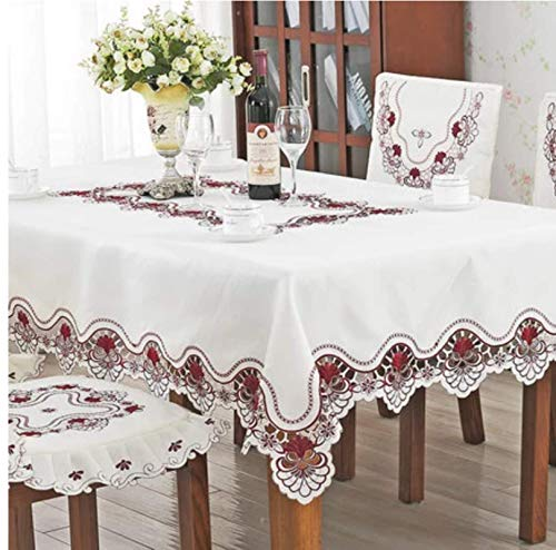 Luxury Embroidered Tablecloth Dining Table Cover Tablecloth Wedding Safflower Chair Cover Home Textile