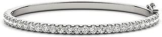 14K White Gold Diamond Bangle Bracelet Premium Collection