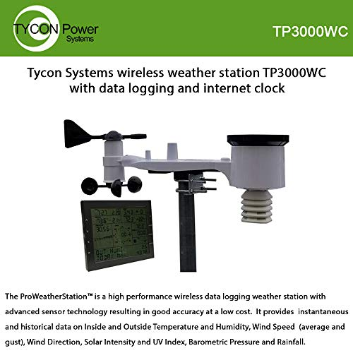 Professional Solar/Wireless Weather Station with WiFi/Data Logging, Indoor/Outdoor Temp and Humidity, Wind SPD and Dir, Rain, Solar Intensity, Barometric Pressure/Forecasting, Auto Upload to Web