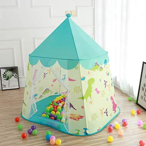 Kids Play Tent, Portable Toy huis is voor jongens/meisjes, Perfect speelgoed cadeau voor verjaardag vakantie Dinosaur Patroon Binnen/Buiten Children's Playhouse,Blue