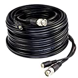 Five Star Cable RG59 Siamese Combo Cable Patch RG59 Video + 18/2 Power for TVI, CVI, AHD and HD-SDI CCTV Camera System with BNC connectors and 2.1mm Power Jack (100 Ft, Black)