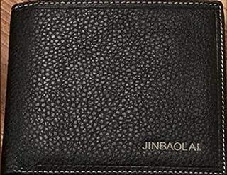 Jinbaolai Black Leather For Men - Bifold Wallets
