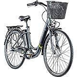 Zündapp E Damenrad 700c E-Bike Pedelec Z510 Citybike Elektrofahrrad 28' Fahrrad (weiß/grün, 48 cm)