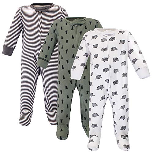 Touched by Nature Baby Organic Cotton Sleep and Play, Happy Camper, 3-6 Months