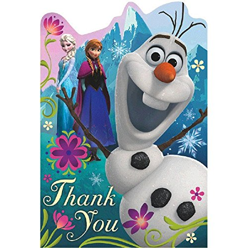 Postcard Thank You Cards   Disney Frozen Collection   Party Accessory