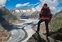 ERZAN大人のパズル1000アレッチ氷河を見渡す孤独な登山家減圧ジグソーおもちゃキッズギフト