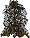 Zerimar Alfombra Piel de Cabra Natural Premium | Medidas: 100x65 cms | Estampada imitación ocelote | Alfombra Salón | Alfombra Salón Grandes | Alfombras de Pelo