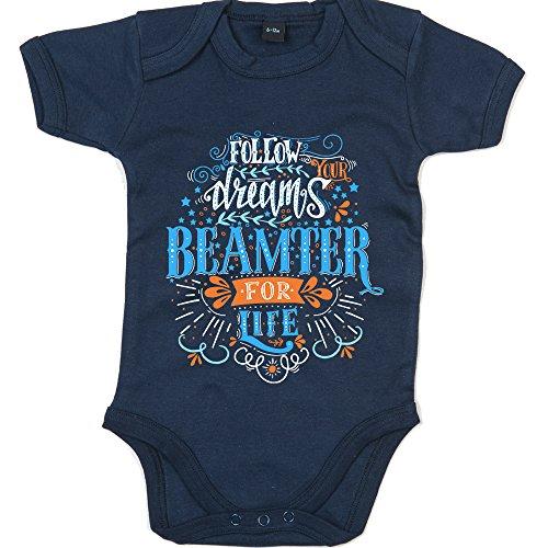 Flowerpower Beamter #1 Babybody   Berufe   Follow Your Dreams   Traumberuf   Junge   Kurzarmbody, Farbe:Blau (Nautical Navy BZ10);Größe:12-18 Monate