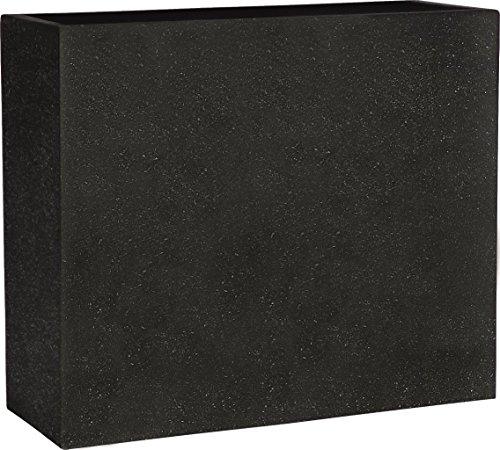 Esteras 8520606580 Smartline Dalfsen 80 Black rectangular planter, 80 x 30 x 68 cm, 150 litres