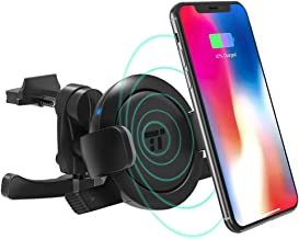 TaoTronics Vent Phone Holder for Car, Car Phone Mount with 5W Wireless Charging for Samsung Galaxy S9/S8/S7 & Qi-Enabled Device (Renewed)