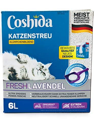 Coshida 3X Katzenstreu Fresh Lavendel 3x6 Liter