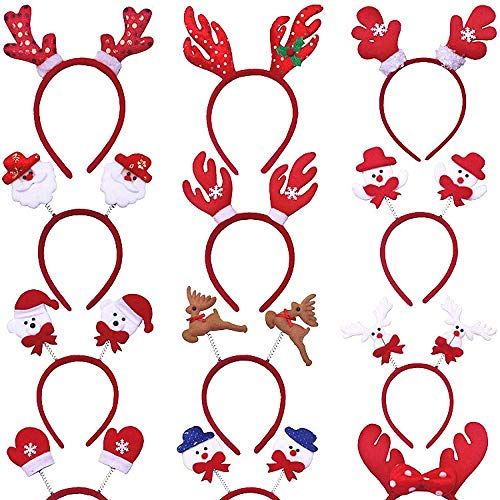 YUY Diadema navidea Cuerno de Reno rbol de Navidad Adornos Diademas de Disfraz para Fiestas navideas 2-veinticuatro