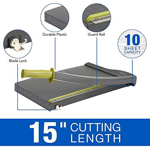 Swingline Paper Trimmer, Guillotine Paper Cutter, 15 inches Cut Length, 10 Sheet...
