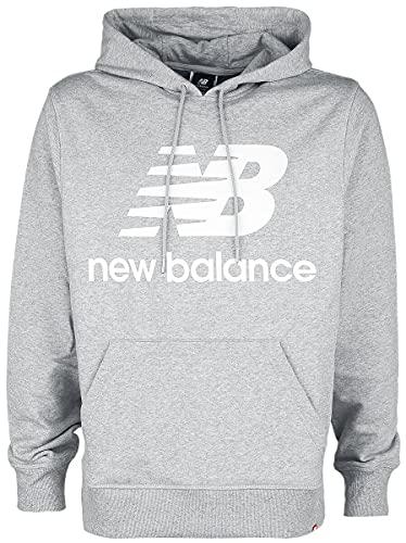 New Balance Herren MT03558 Kapuzenpullover, Gris, XL