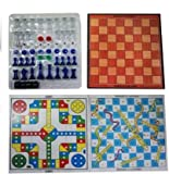 ★This 3 in 1 Game has all of your choices. Enjoy a splendid evening with your family and friends playing these games 3 in 1 family game . ★The foldable board is very helpful while traveling and playing . ★A Fun Game for the entire family. ★A Fun ...