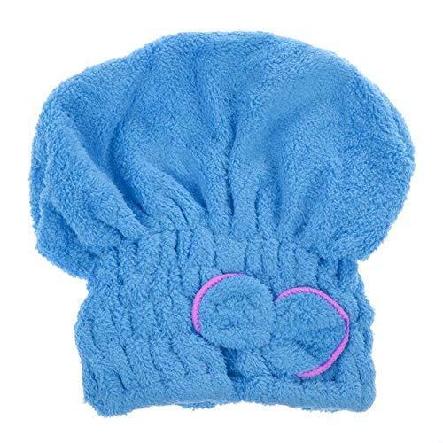 Heliansheng Gorro de algodón para Cabello seco, Toalla de baño de Secado rápido, Toalla de baño Absorbente de Microfibra -B Blue-D48