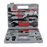 Juego de herramientas para bicicleta, 44 piezas, maletín de herramientas para bicicleta, juego de reparación universal para bicicletas, práctico maletín de transporte