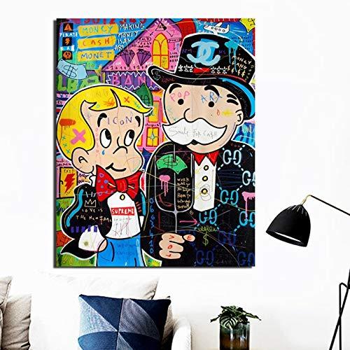 KWzEQ Personaje de Dibujos Animados Lienzo Pintura Sala de