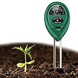 Soil Test Kit, 3-in-1 Soil Moisture Meter Soil PH Meter Light and PH