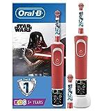 Oral-B Niños Cepillo De Dientes Eléctrico, 1 Mango De Star Wars Recargable Con Tecnología De Braun, Apto Para Niños Mayores De 3 Años