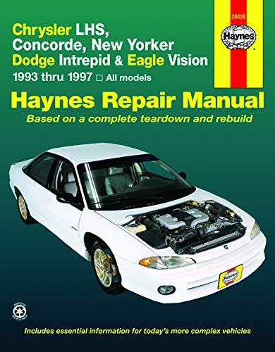 Haynes Chrysler LHS,Concorde,New Yorker-Dodge Intrepid and Eagle Vision 1993-97 (Haynes Manuals)