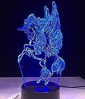 11.11ビジネスユニコーン3D LED動物ランプカワイイナイトライトマルチカラーRGBWランプクリスマスの装飾的な贈り物漫画照明器具のおもちゃ
