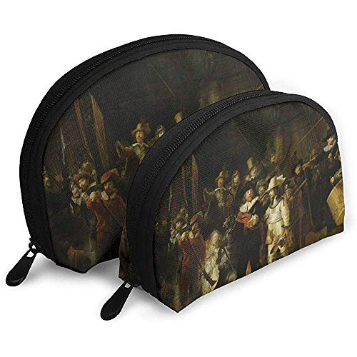 Rembrandt Van Rijn Nachtwache Tragbare Schminktäschchen Kulturbeutel Tragbare Multifunktionsreisetaschen Kleine Schminktäschchen Clutch Pouch