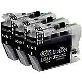 Gilimedia LC3213 LC3211 Patronen Ersatz für Brother LC3213 LC3211 LC 3211 Druckerpatronen Kompatibel mit Brother MFC J497DW J491DW J890DW J895DW DCP J772DW J774DW J572D (3 Schwarz )