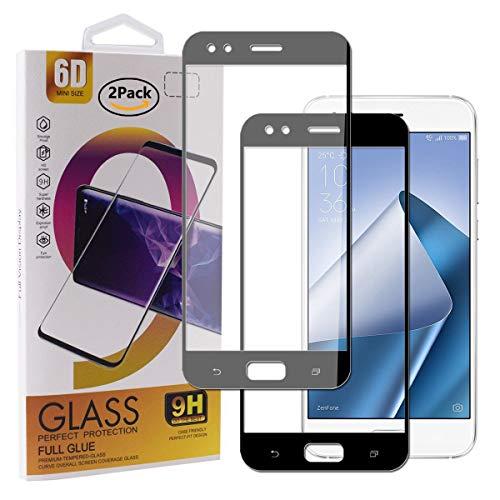 Guran [2 Pezzi Pellicola Vetro Temperato per ASUS Zenfone 4 ZE554KL Smartphone Copertura Completa 9H Durezza Anti-Impronte HD Pellicola Protettiva - Nero