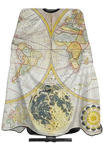 Welc my King Vintage Samuel World Map Taglio dei Capelli Cape Cloth Fantastico Barbiere Avvolgimento...