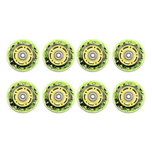 MY1MEY 8 STK.Inline Skate Wheels, Rollhockey Fitness Skate, Outdoor PU Ersatzrad, 85A 72Mm 76Mm 80Mm Zubehör(C76MM)