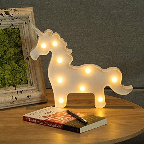 CO-Z LED Lámpara de Unicornio Luz Nocturna para Niños Luces de Carta para Fiesta de...