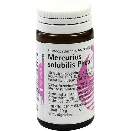 MERCURIUS SOLUBILIS PHCP 20g Globuli PZN:361809