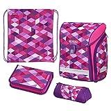 herlitz 50022083 Schulranzen Midi Plus Pink Cubes, 1 Stück
