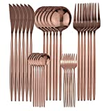 Cutlery Set Stainless Steel 6-30 unids Rose Oro Vajilla Conjunto Espejo Espejo Silateráticos Acero Inoxidable Vajilla Cuchillo Cuchilla Cuchara Cuchara Flatware Western Cutlery Set ( Color : Rose )