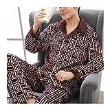 HZMM Pijamas Pijamas Caliente La Ropa De Noche De Los Hombres De Invierno Gruesa Franela Pijama De Manga Larga Pijama Casual Otoño Pijama Hombres Polar De Coral del Sueño