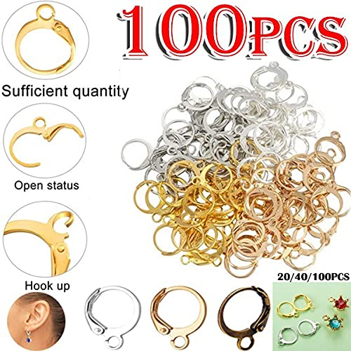 Smalllook 100 piezas de colgantes de copa de vino de oro para fabricación de joyas (mezcla de colores)