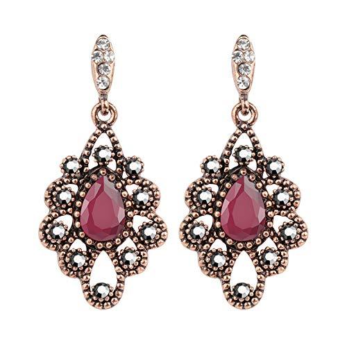 Orecchini etnici bohémien per le donne moda oro cristallo fiore orecchini antichi vintage gioielli di nozze