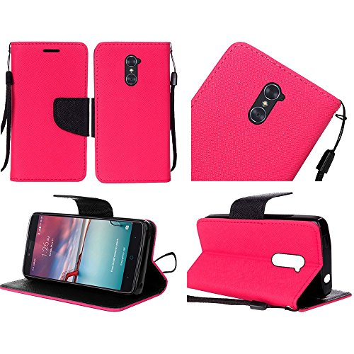 HR Wireless Cell Phone Case for ZTE ZMAX Pro - Hot Pink