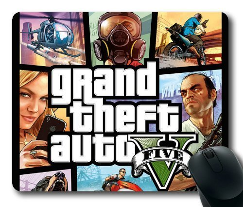 GTA 5 Cover Art Mouse Pad, Customized Rectangle Mousepad Diy By Bestsellcase
