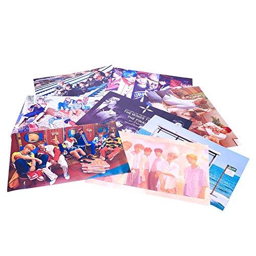 Bellenne 8 Stück BTS Bangtan Boys Poster, Jungkook / Jimin / V / Suga / Jin / J-Hope / Rap Monster Fanartikel Wanddekoration Wandaufkleber Wandtattoo Sammlung und Beste Geschenk für The Army (H02)