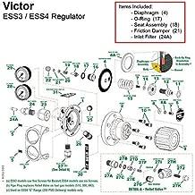 Victor Edge Series ESS4 Oxygen Regulator Rebuild/Repair Parts Kit