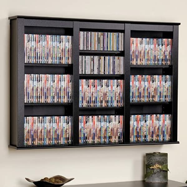 Prepac Triple Wall Mounted Storage Cabinet Black