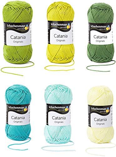 Schachenmayr Catania Wolle Set 8, 6x50g, Grün Mix