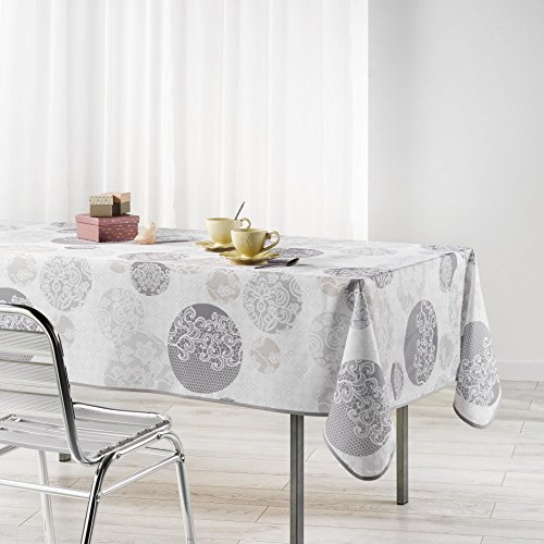 Douceur d'Intérieur BARBARA Nappe rectangulaire Polyester Naturel 240 x 150 cm