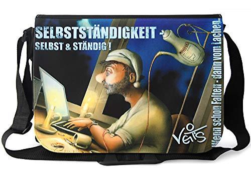 Veit'S lustige Schultertasche Schultasche College Tasche mit Motiv Selbstständigkeit - TAB0128