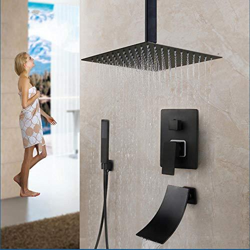 Gnailur 10 pulgadas de lluvia ducha ducha ducha grifo bañera lluvia cuadrado luz ducha cabezal ducha conjunto de grifos