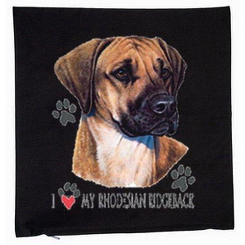 Ridgeback rhodesian chiens housse de coussin 40 x 40 cm (noir)