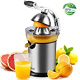 YISSVIC Electric Citrus Juicer Automatic Electric Orange Press Professional Powerful Stainless Steel Lever Lemon Squeezer